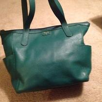 Fossil Leather Green Tote/shopper Satchel Photo
