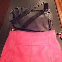 Fossil  Leather Hand Bags Set of Two One Pink  . the Other Gray Photo