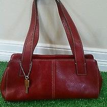 Fossil Leather Handbag Red Photo