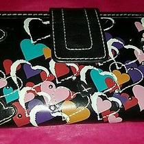 Fossil Leather Hearts Checkbook Wallet Photo
