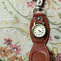 Fossil Leather Key Fob With Watch Photo