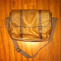 Fossil Leather Laptop Messenger Bag  Photo