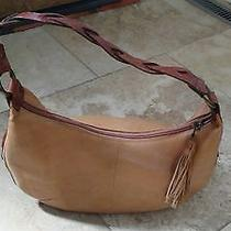 Fossil Leather Leather Purse Bag Beige Tan Photo