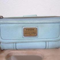 Fossil Leather Light Blue Wallet Photo
