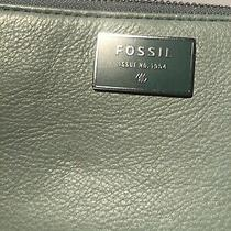 Fossil Leather Lt.  Green Pebbled  Wallet  Zip Around Wallet New Photo