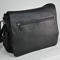 Fossil Leather Messenger Bag  Black Pebble Leather Travel Laptop Bag Free s&h Photo