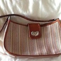 Fossil Leather & Multi Weave Shoulder Bag / Purse Photo