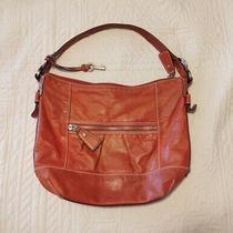 Fossil Leather Orange Shoulder Bag Purse Hobo Bag Photo