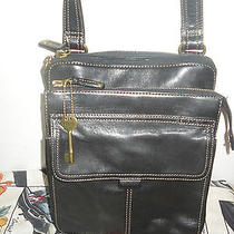 Fossil Leather Organizer Cross Body Bag Shoulder Bag Purse  Photo