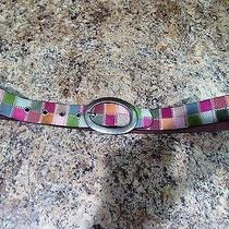 Fossil Leather Patchwork Belt Medium Photo