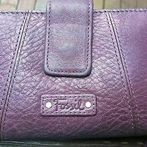 Fossil Leather   Purple Wallet  Photo