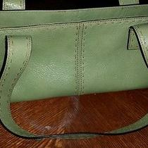 Fossil Leather Purse Green Photo