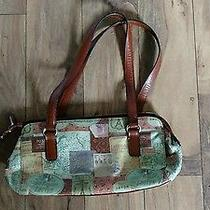 Fossil Leather Purse Unique Pattern Perfect for Summer Great Condition Photo