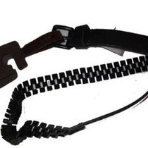 Fossil Leather Pyramid Chain Belt Large New Black Womens Photo