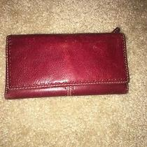 Fossil Leather Red Wallet Clutch  Photo