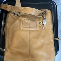 Fossil Leather Satchel Crossbody Handbag Purse Photo