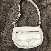 Fossil Leather Shoulder Bag Off White Pockets Id Window Zb 8943 Small Adj Strap Photo