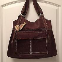 Fossil Leather & Suede Handbag Photo