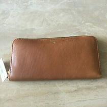Fossil Leather Sydney Zip Around Clutch Wallet Sl6688235 Photo