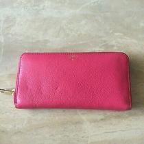 Fossil Leather Sydney Zip Around Clutch Wallet Sl6688661 Photo