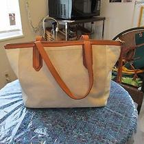 Fossil Leather Tote Bag Photo