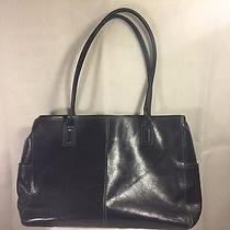 Fossil Leather Tote Bag Hand Bag Weekender Computer Bag Professional Bag Used Photo