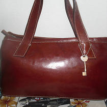 Fossil Leather Tote Bag Shoulder Bag Purse  Photo
