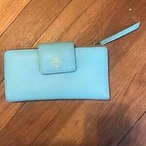Fossil Leather Wallet Blue 7in Wide Photo