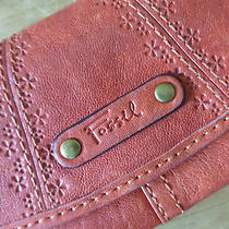 Fossil Leather Wallet in Orange Photo