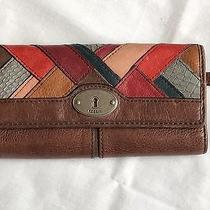 Fossil Leather Wallet Multi Color Photo