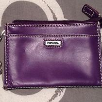 Fossil Leather Wallet Purple Photo