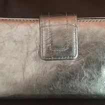 Fossil Leather Wallet Silver Photo