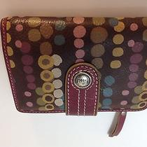 Fossil Leather Wallet With Pokka Dot Design Photo