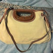 Fossil Leather &. Wood Fabric Satchel  Photo