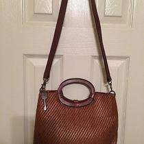 Fossil Leather & Woven Handbag 14