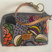 Fossil Leather Wristlet Clutch Pouch Issue No 1954 Zip Floral Pattern Pink/grey Photo