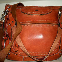 Fossil Liberty Gorgeous Medium Tan/ Cognac Leather Hobo Crossbody Bag  Nice Euc Photo