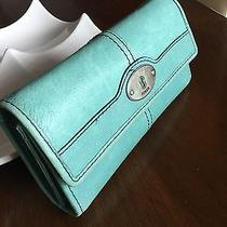 Fossil  Light Blue Leather Wallet Photo