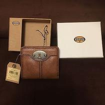 Fossil Light Brown Cowhide Leather Wallet New Photo