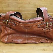 Fossil Light Brown Leather Hobo Hand Bag Tote Purse Photo