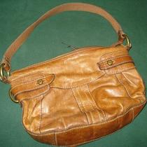 Fossil - Light Brown Purse - Zip Closure - 1 Open Pocket Outside Photo