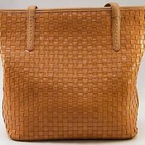 Fossil Light Brown Tan Woven Leather Tote Shopper Purse Bag Handbag Zb8407 Photo
