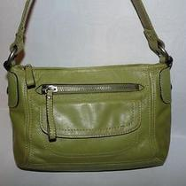 Fossil Light Green Leather Slim Shoulder Bag It's a Spring Thing Photo