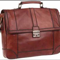Fossil Lineage Large East West Leather Briefcase Messenger Laptop Brown Womens Photo