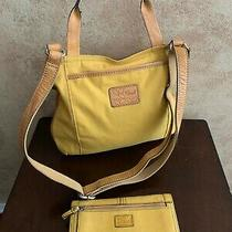 Fossil Lizette Crossbody Bag Plus Fossil Yellow Cross Grain Leather Wallet Photo