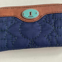 Fossil Logan Rfid Zip Around Women's Leather  and Quilted Body Photo