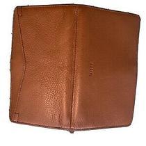 Fossil Logan Rfid Zip Around Women's Leather Clutch - Brown Photo