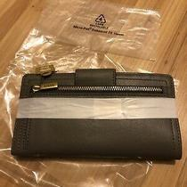 Fossil Logan Tab Clutch Wallet Shadow(gray) Very Nice. Photo