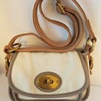 Fossil Long Life Vintage Turnlock Messenger Bag Tan / Brown  Photo
