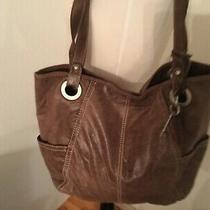 Fossil Long Live Hathaway Shopper Tote Distressed Brown Genuine Leather Zb3605 Photo